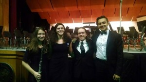 EAHS Regional Orchestra Musicians: Victoria Raso, Leah Pasch, Louis Gilliland and Deet Pal